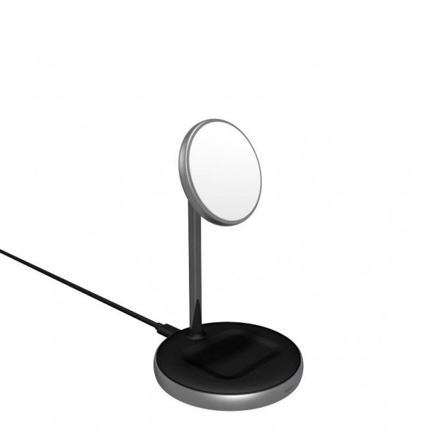 Epico Magnetic 2in1 Wireless Charger stand (MagSafe compatible) - black