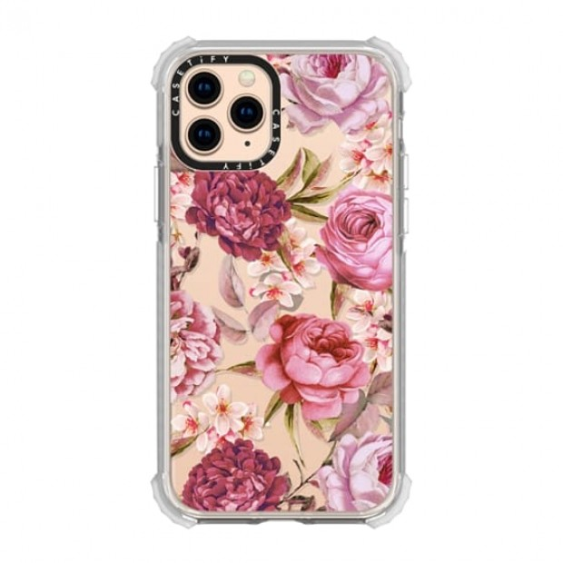 Casetify Blush Pink Rose Watercolor iPhone 11 Pro
