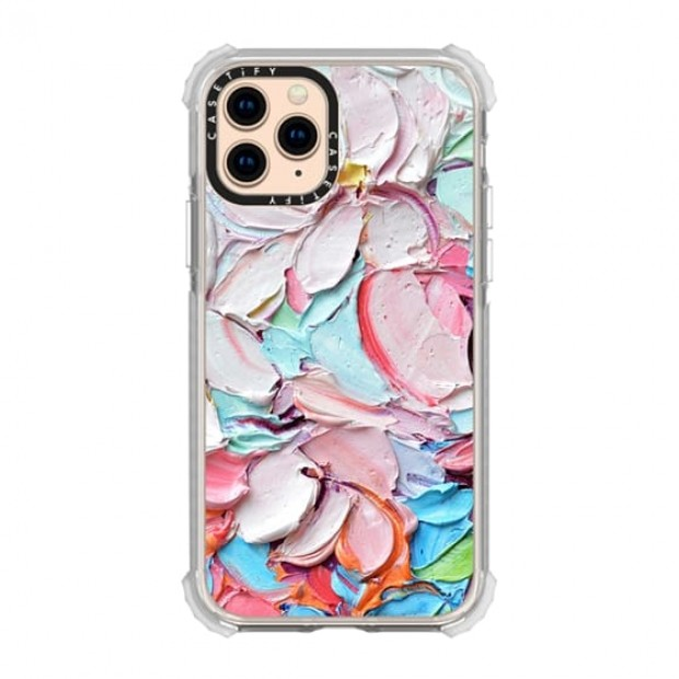 Casetify Cherry Blossom Petals iPhone 11 Pro Grip - clear