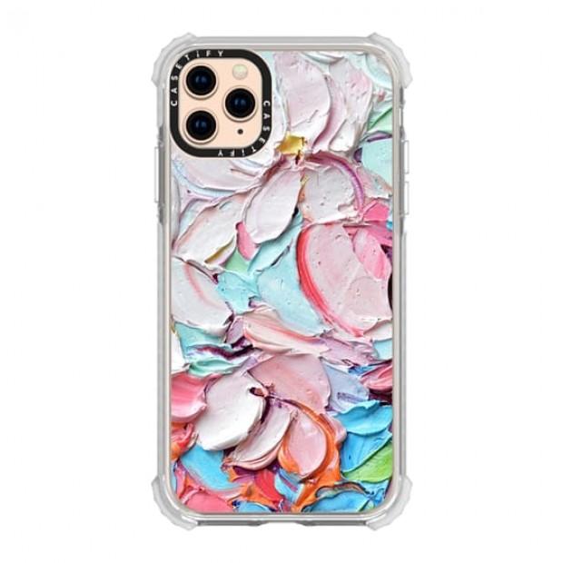 Cherry Blossom Petals iPhone 11 Pro Max Grip - clear