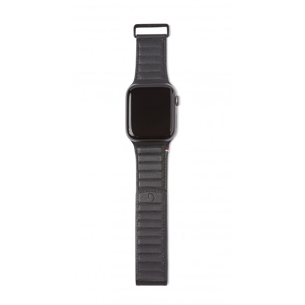 Decoded Leather Magnetic Traction Strap | Watch 44mm/42mm Black