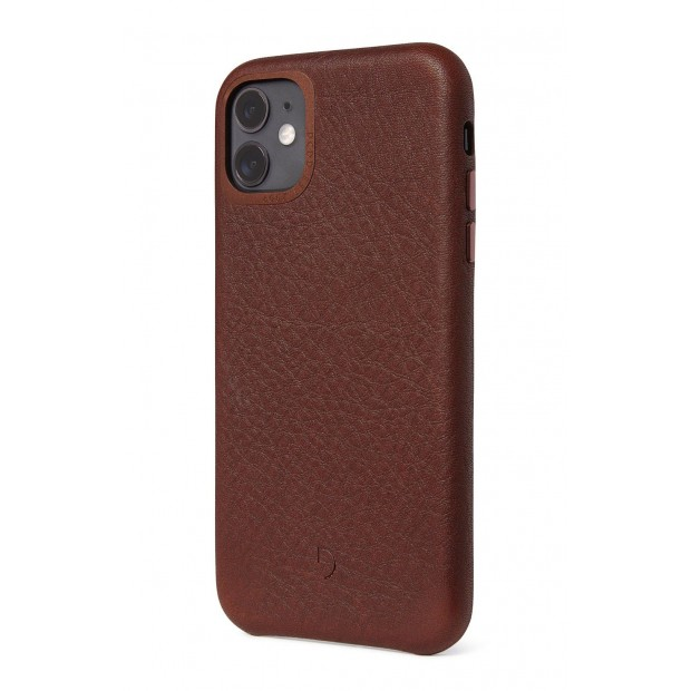 Decoded Leather Backcover iPhone 11 Brown