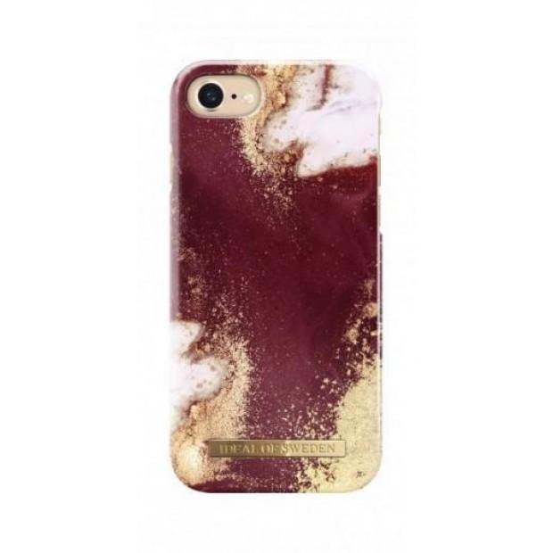Fashion Case iPhone8/7/6/6S Golden Burgundy Marble