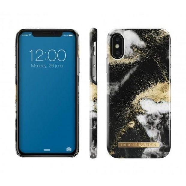 Fashion Case iPhone X/XS Black Galaxy