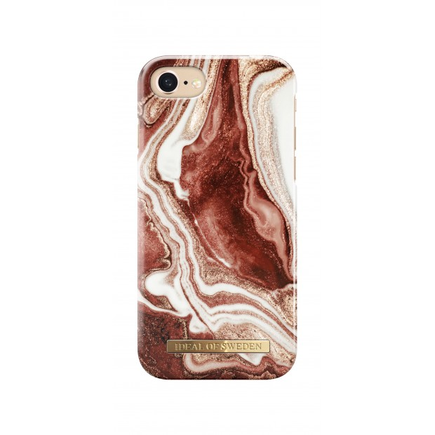 iDeal of Sweden Fashion Case iPhone 8/7/6/6s Golden Rusty Marble