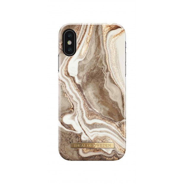iDeal of Sweden Fashion Case iPhone X/XS Golden Sand Marble