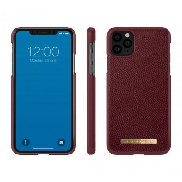 iDeal of Sweden Fashion Case Saffiano iPhone 11 Pro Max Burgundy