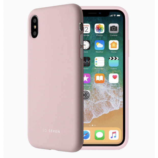 So Seven Smoothie Silicone Case iPhone XS Max Pink