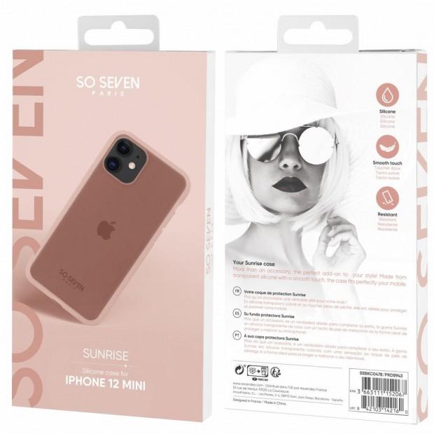 Sunrise Silicone Case for IPhone 12 Mini (pink)