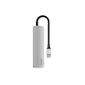 EPICO USB Type-C Hub Multi-Port 4k HDMI - silver/black