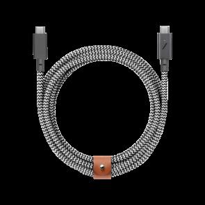 Native Union Belt USB-C 100W PD Charge Cable 2.4m Zebra
