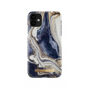 iDeal of Sweden Fashion Case iPhone 11 Golden Indigo Marble