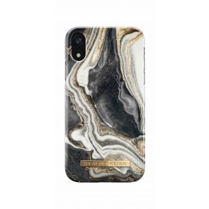 iDeal of Sweden Fashion Case iPhone XR Golden Ash Marble