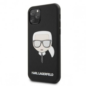 Karl Lagerfeld Hard Case Iconik Embossed & Glitter Black iPhone 11 Pro