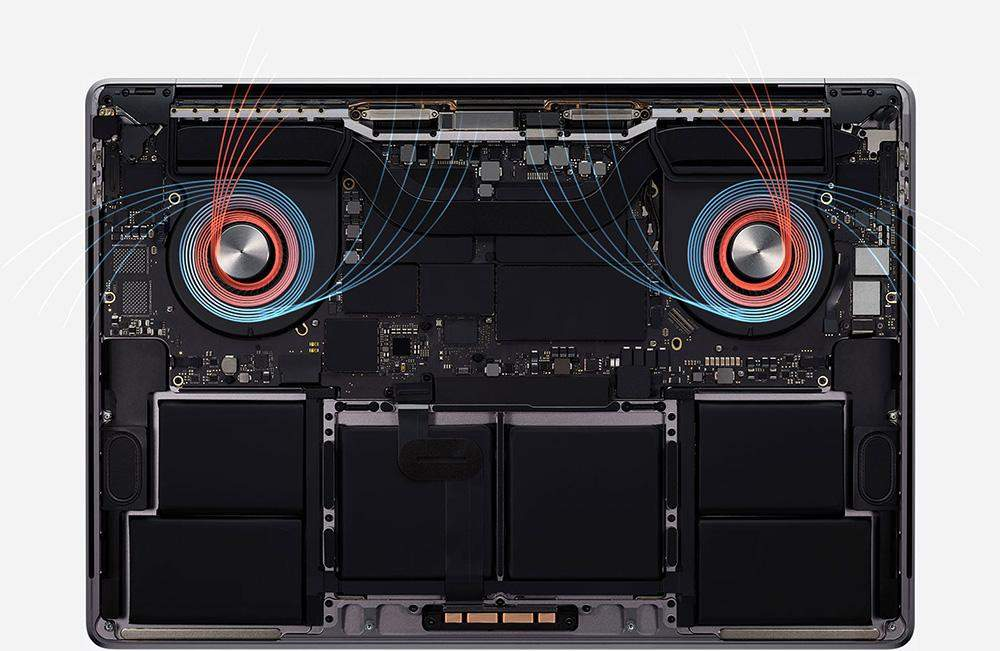 MacBook Pro 16 cooling